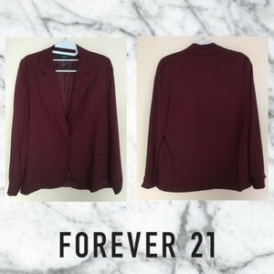 🆕 Forever 21 Wine Red Blazer